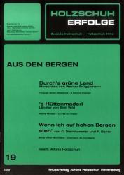Holzschuh-Erfolge Band 19