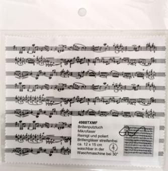 Brillenputztuch Microfaser 12 x 15 cm Notenmotiv