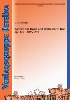 Konzert für Orgel und Orchester F-Dur op. 4/5