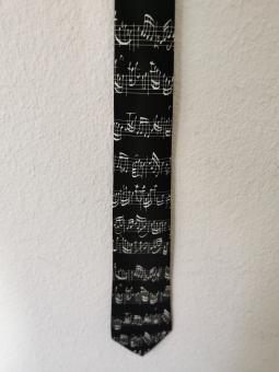Krawatte Notenblatt schwarz